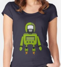 Robot Character #163 Women's Fitted Scoop T-Shirt