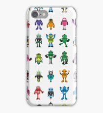 Robot Characters Poster iPhone Case/Skin