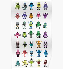 Robot Characters Poster Poster