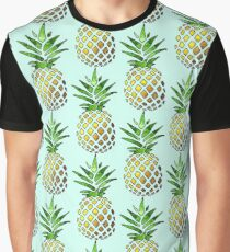 Pineapple Design on a Sunflower Graphic T-Shirt