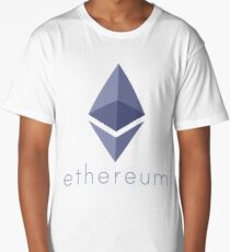 Ethereum Logo (with Text) Long T-Shirt