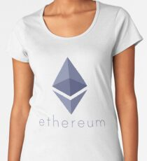 Ethereum Logo (with Text) Women's Premium T-Shirt