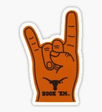 university of texas hook em foam finger Sticker