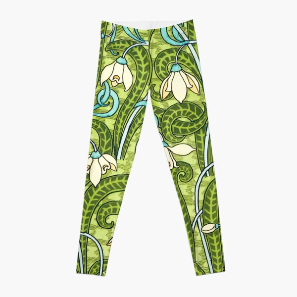 Snowdrop by Eugene Grasset Leggings