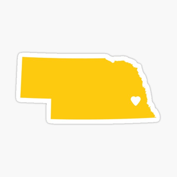 Nebraska Love in Mustard Sticker