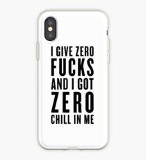 zero fucks iPhone Case