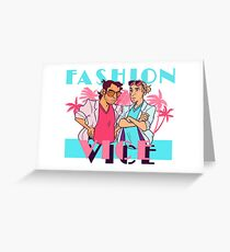 THEY FIGHT THE FASHION CRIMES Greeting Card