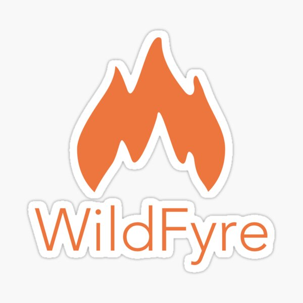 WildFyre with Lettering Sticker