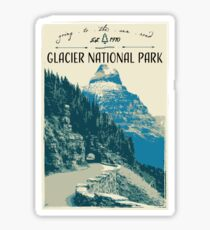 Glacier National Park - Going to the Sun Road Sticker