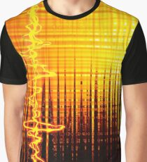 Sound Wave Orange Graphic T-Shirt