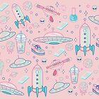 Galaxy Babe Pattern by lunaelizabeth