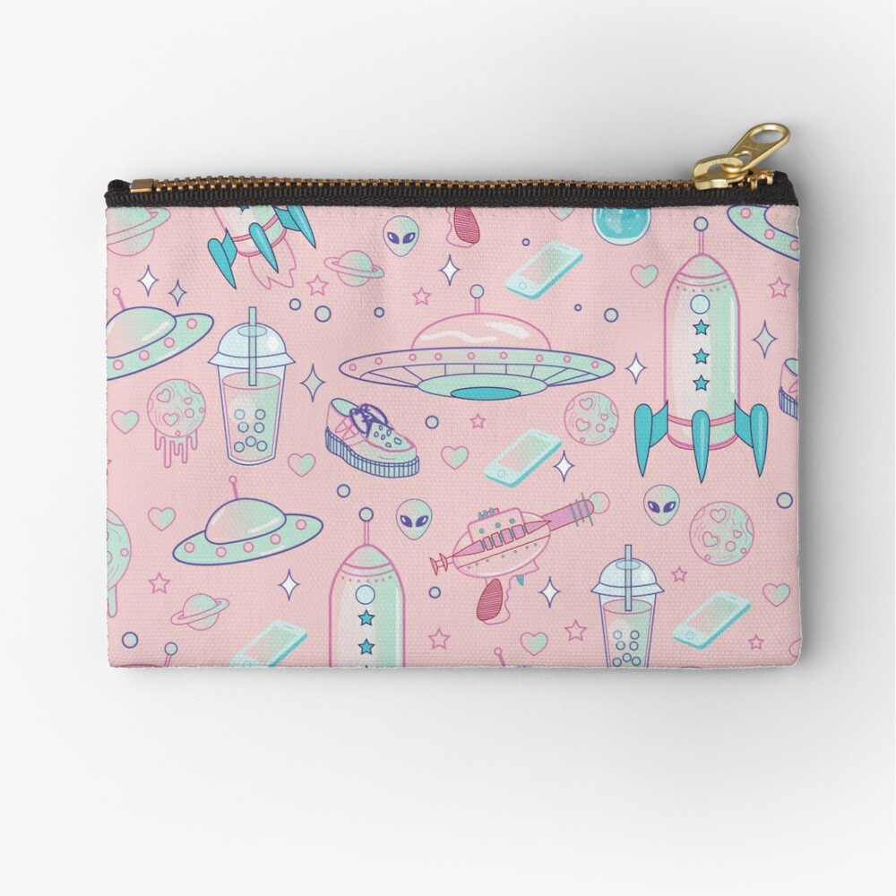 Galaxy Babe Pattern Zipper Pouch