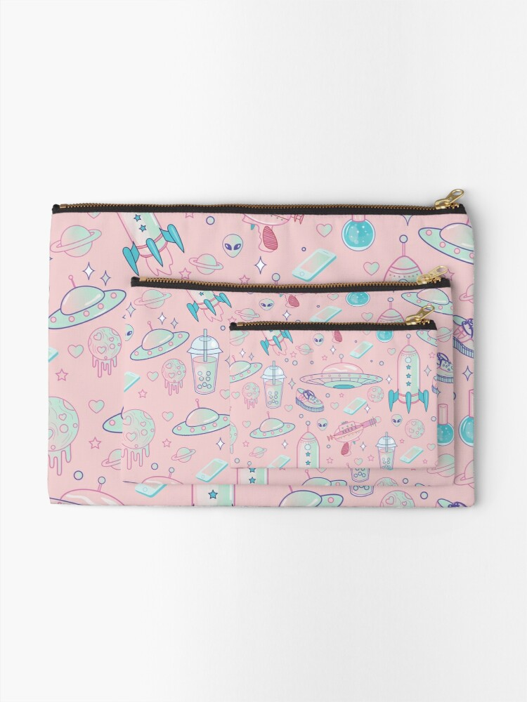 Alternate view of Galaxy Babe Pattern Zipper Pouch