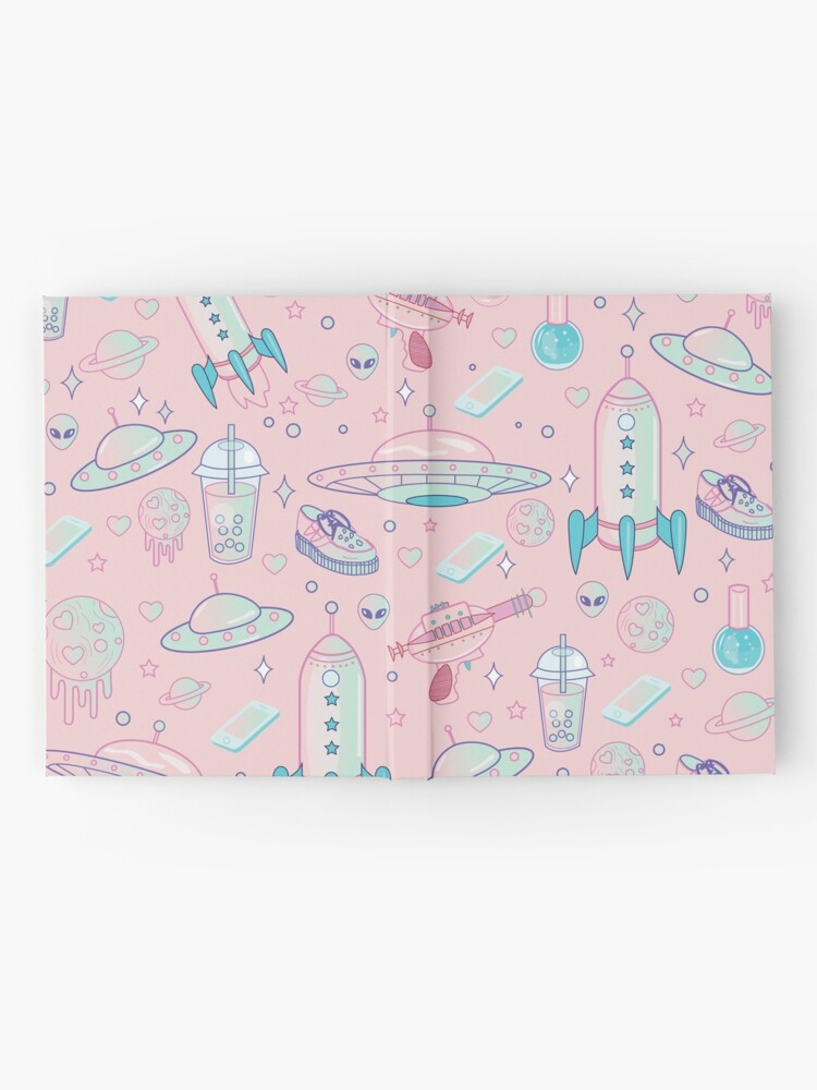 Alternate view of Galaxy Babe Pattern Hardcover Journal