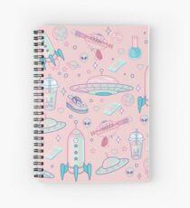 Galaxy Babe Pattern Spiral Notebook