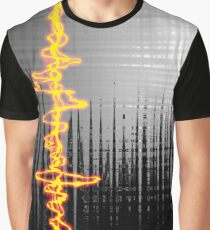 Sound Wave Grey Graphic T-Shirt
