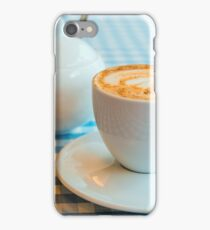 Morning cup of coffee in white cup iPhone Case/Skin
