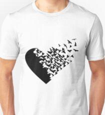 Blackbird Flying Heart Formation T-Shirt