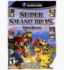 Super Smash Bros Melee Boxart Poster