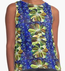 Graceful Delphinium flowers, watercolor painting Contrast Tank