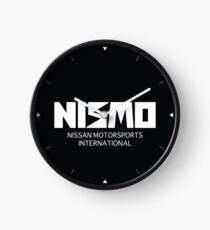 Retro White Nismo Nissan Motorsport Logo Clock