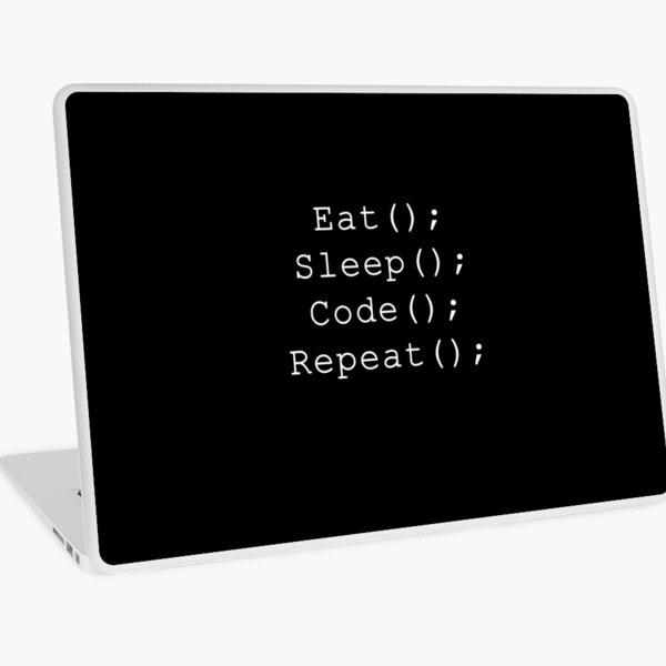 Eat Sleep Code Repeat Laptop Skin