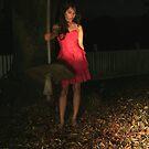 Last RED autumn leaf 2 by Tatiana R