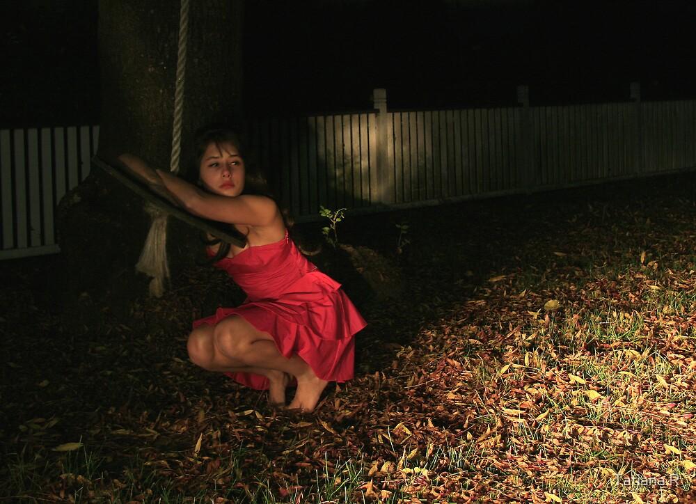 Last RED autumn leaf 3 by Tatiana R