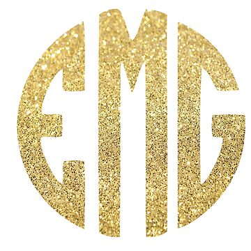 Glitter Monogram: EMG by jaylajones