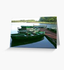 Boats Resting  Greeting Card