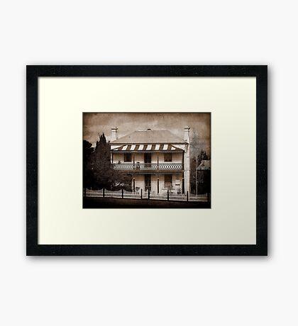 Station Master's Cottage - Uralla, NSW, Australia Framed Print