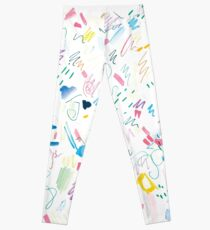 Colourful Messy Swatch Pattern Leggings