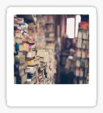 Library Polaroid Sticker
