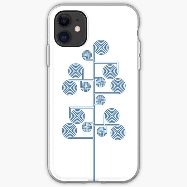 Hypnotic Tree *BLUE* iPhone Soft Case