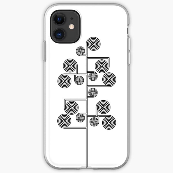 Hypnotic Tree *BLACK* iPhone Soft Case