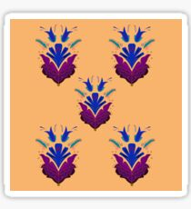 Luxury Folk flowers purple blue / Vanilla Sticker