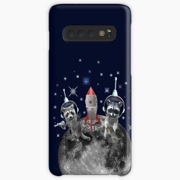 Trash Pandas in Space Raccoons on Moon Samsung Galaxy Snap Case