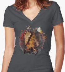 Kiss Kiss Bang Bang Women's Fitted V-Neck T-Shirt