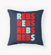 Go Rebs! Throw Pillow