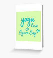 yoga, love & Byron Bay Greeting Card