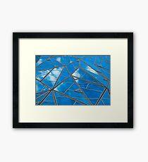 Blue sky reflections Framed Print