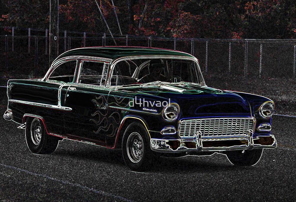 Neon 1955 Chevrolet Classic Hot Rod by d4hvaol