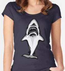 Great White Shark Logo (Underneath) Women's Fitted Scoop T-Shirt