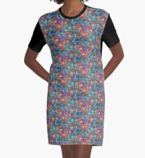 Vivid Exciting Abstract Art Graphic T-Shirt Dress