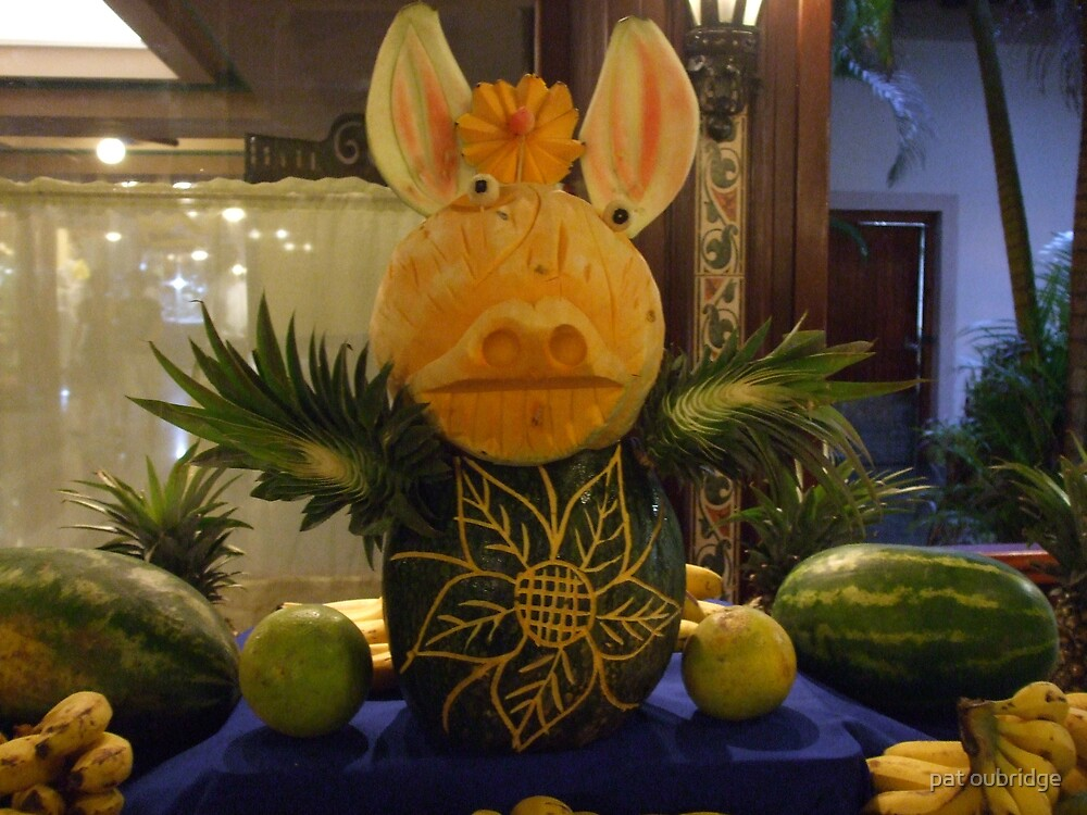 Pig In Fruit by pat oubridge