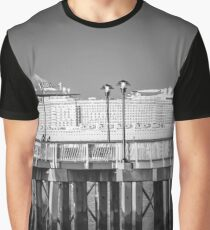 View On Cruise Liner From The Promenade | Coney Island, New York Graphic T-Shirt