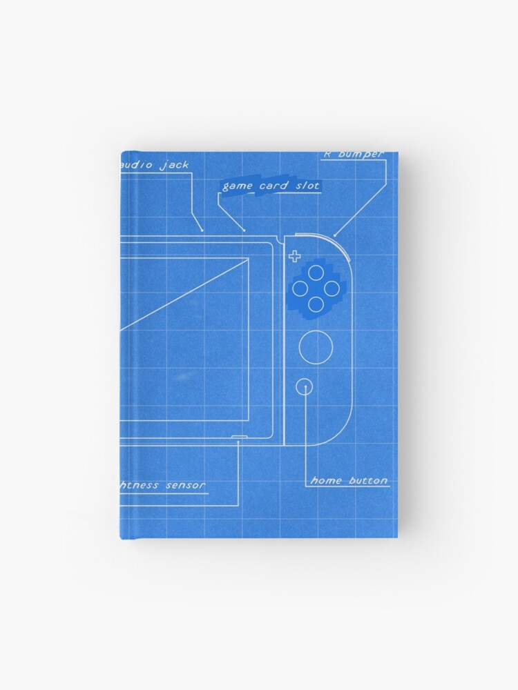 Nintendo Switch Blueprint | Hardcover Journal