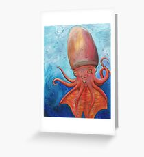 Tremoctopus, female: Blanket Octopus Greeting Card