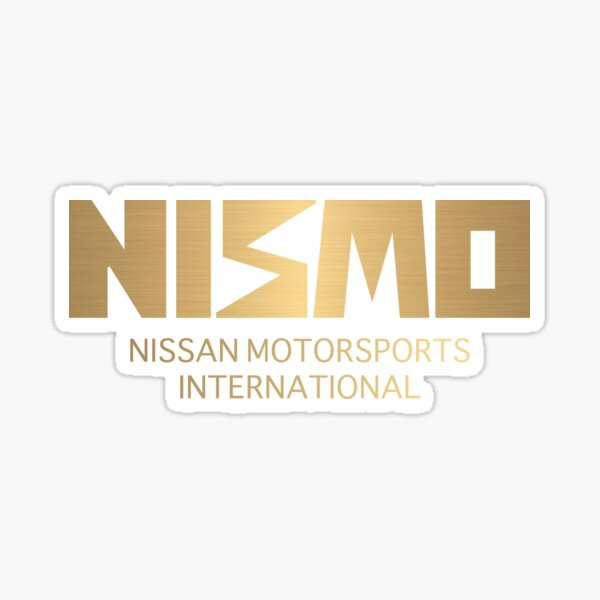 Retro Gold and Black Nismo Nissan Motorsport Logo Sticker