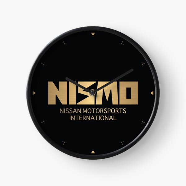 Retro Gold and Black Nismo Nissan Motorsport Logo Clock